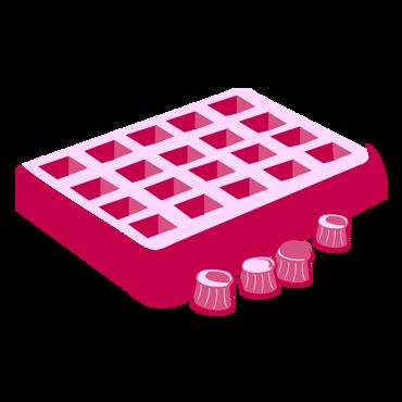 Afbeelding voor categorie Wafels en chocolade