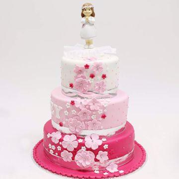 Afbeeldingen van Pink waterflower taart
