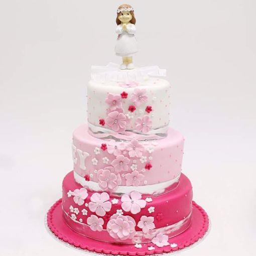 Afbeelding van Pink waterflower taart