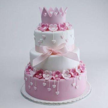 Afbeeldingen van Pinky hearts taart