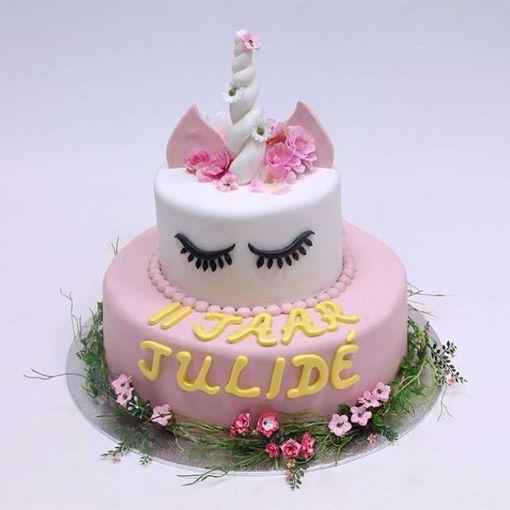 Afbeelding van Unicorn pinky taart