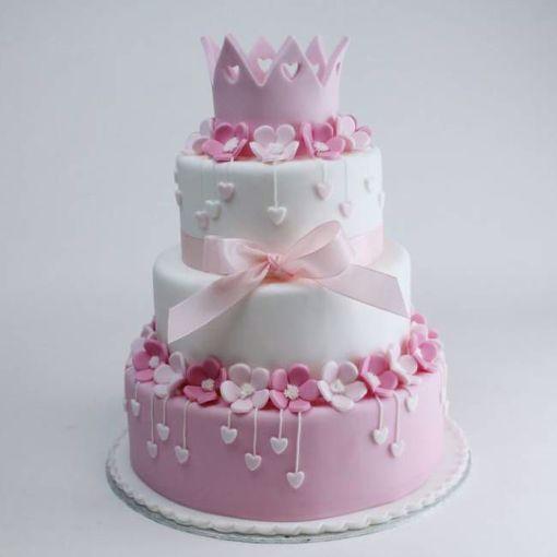 Afbeelding van Pinky hearts taart