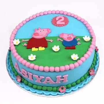 Afbeeldingen van Peppa pig taart