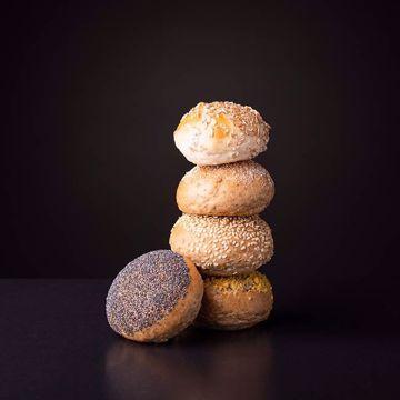 Afbeeldingen van 10 minibollen gesorteerd tarwe