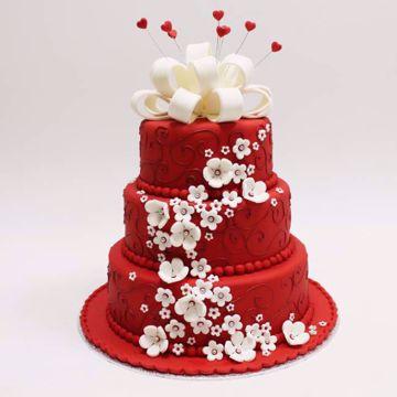Afbeeldingen van Red fantasy taart