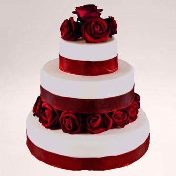 Afbeeldingen van Rode rozen taart