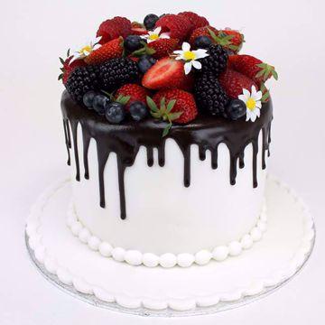 Afbeeldingen van Drip white taart