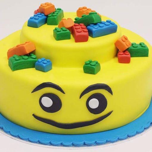 Afbeelding van Lego blokjes taart