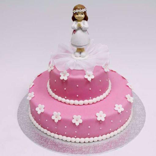 Afbeelding van Schattig meisje taart