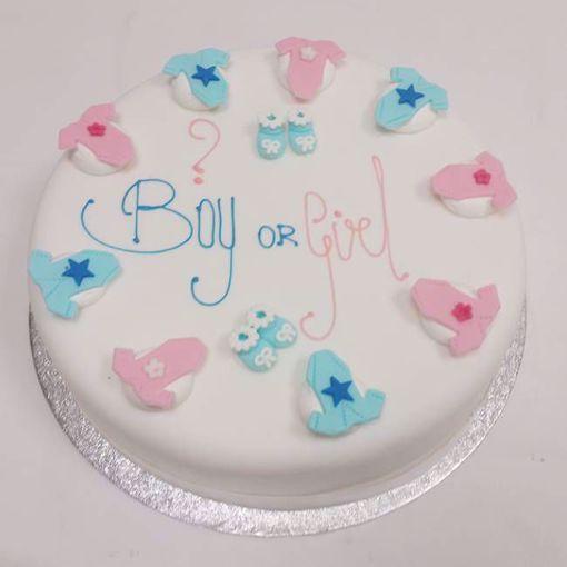Afbeelding van Gender reveal taart