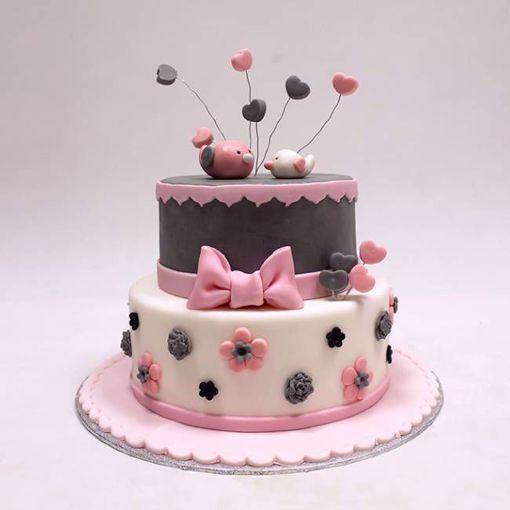 Afbeelding van Love birds taart