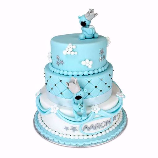 Afbeelding van Light blue bears taart