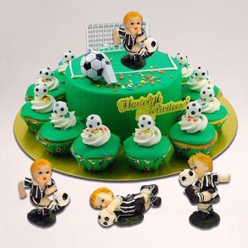 Afbeeldingen van (M057) Cupcake taart Voetballer