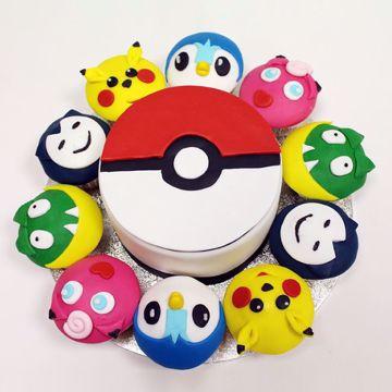 Afbeeldingen van (M090) Cupcake taart Pokemon