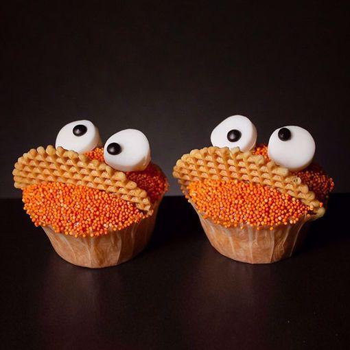 Afbeelding van Oranje cookiemonster muffin