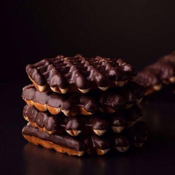 Afbeeldingen van Chocolade cake wafels