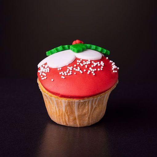 Afbeelding van Kerst muffin kerst krans rood