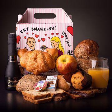 Afbeeldingen van 1 persoons champagne ontbijt (thuisbezorgd)