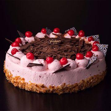 Afbeeldingen van Kersen bavaroise taart