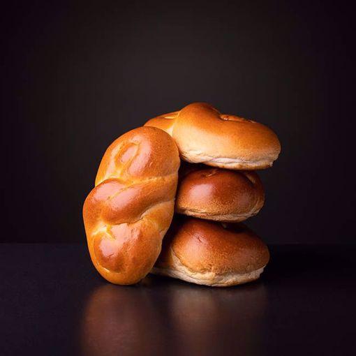 Afbeelding van 6 x luxe gevlochten broodjes (per 6 verpakt)