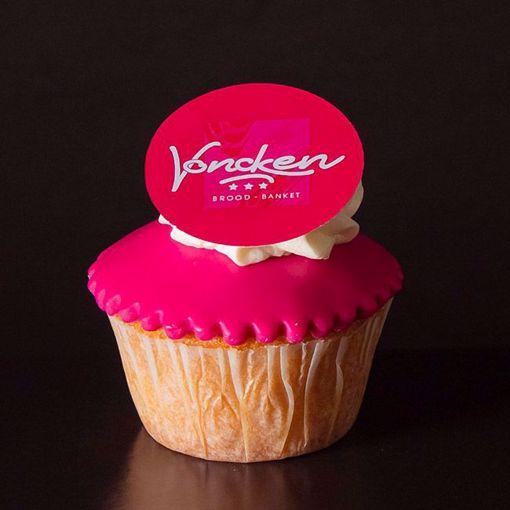 Afbeelding van Muffin met fondant en logo