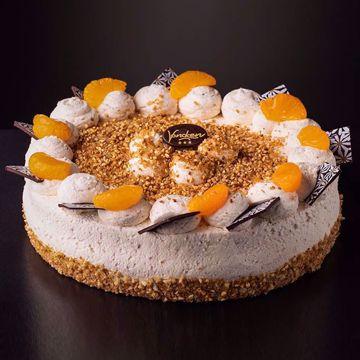 Afbeeldingen van Hazelnoot bavaroise taart