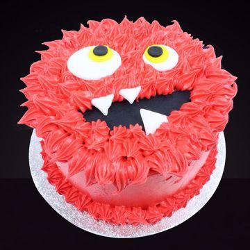 Afbeeldingen van Halloween Monster taart rood