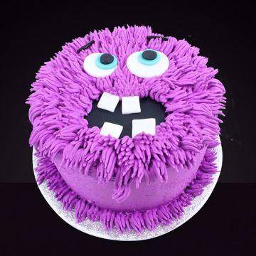 Afbeeldingen van Halloween Monster taart paars