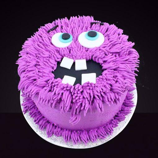 Afbeelding van Halloween Monster taart paars