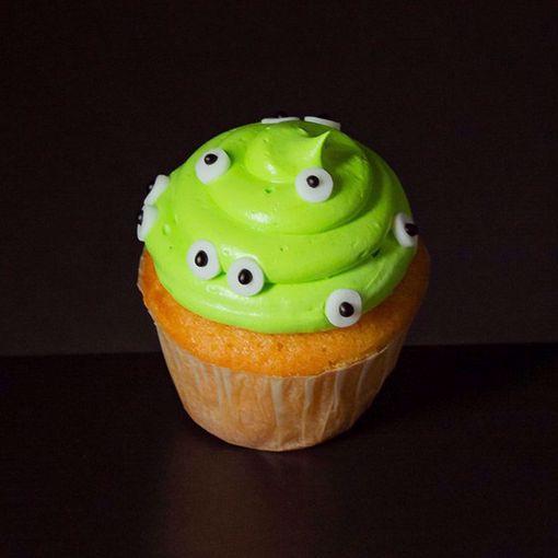 Afbeelding van Halloween muffin (Groen griezeltje)