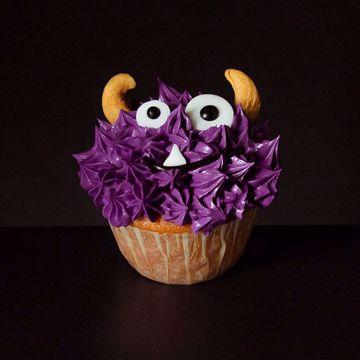 Afbeeldingen van Halloween muffin (Griezeltje paars)