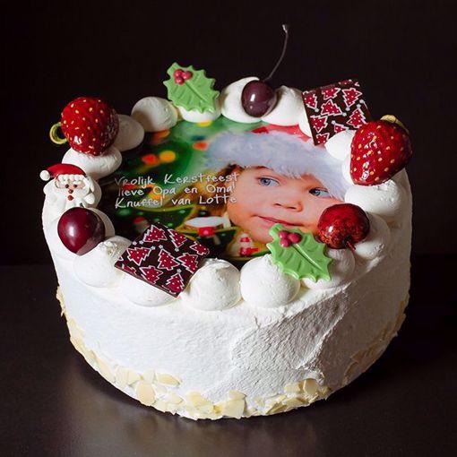 Afbeelding van Kerst Fototaart