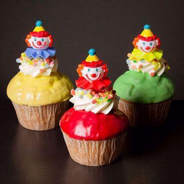 Afbeeldingen van Muffin met clown en confetti