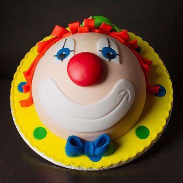 Afbeeldingen van Clown hoofd taart 12 pers (ft 162)