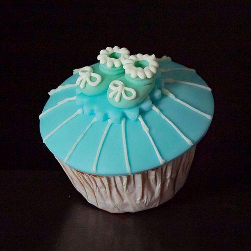 Afbeelding van Muffin baby schoentje blauw