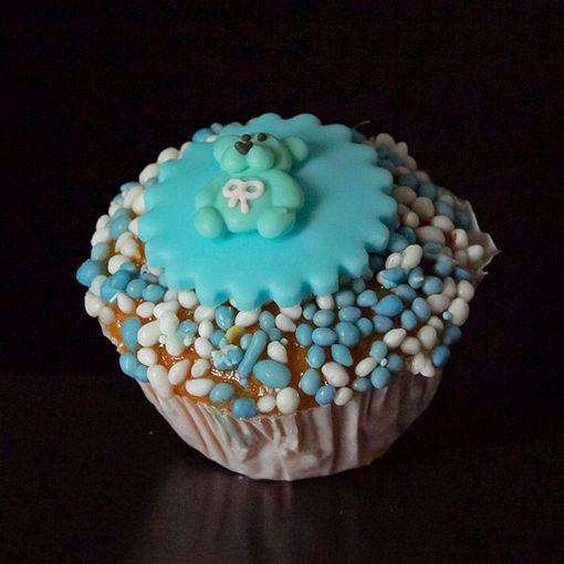 Afbeelding van Muffin baby beertje blauw