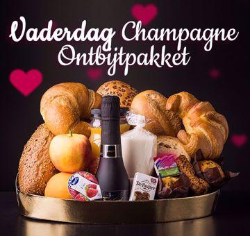 Afbeeldingen van Vaderdag champagne ontbijt pakket