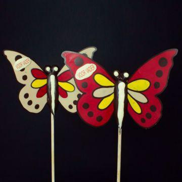 Afbeeldingen van Vaderdag Vlinder op Stok