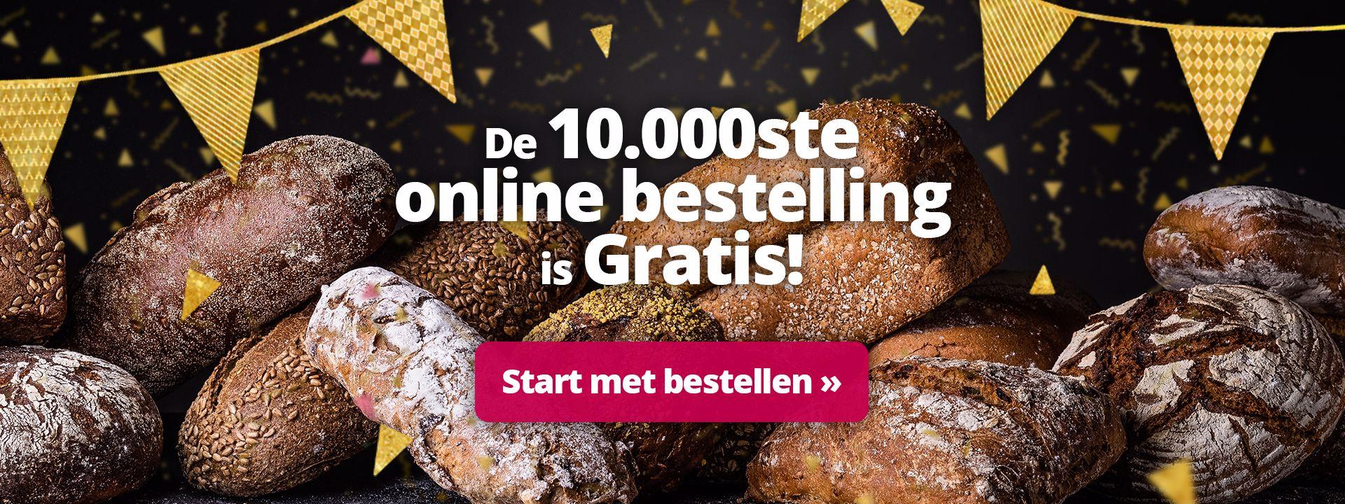 Win als 10.000ste online klant jouw gratis bestelling!