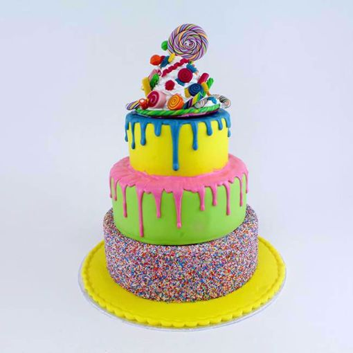 Afbeelding van Colorful candy party taart