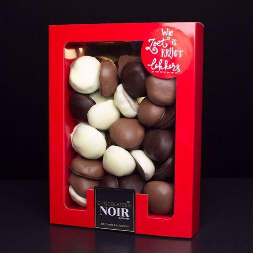 Afbeelding van Doosje Chocolade Pepernoten (groot)