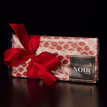Afbeeldingen van Choco Tablet Wit (Kusjes opdruk)